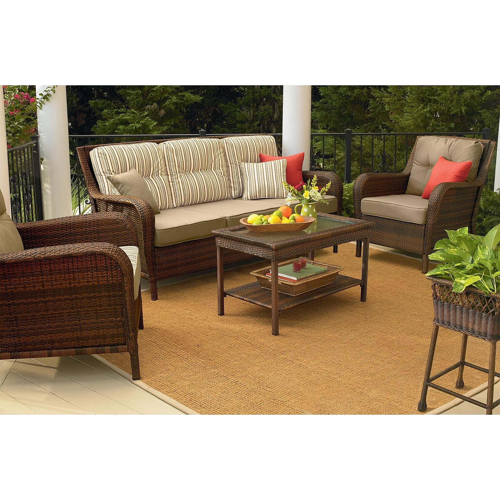 Mayfield Wicker Patio Sofa Transform Your Outdoor Style With Sears Ty Pennington Patio Furniture Patio Furniture Sets Wicker Patio Furniture
