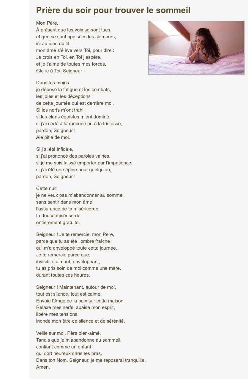 Epingle Par Christiane Sur Prieres Message Biblique Priere Priere Du Soir