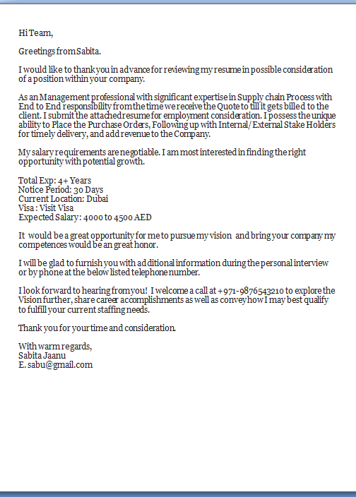 What To Put In A Cover Letter Sample Template Example Ofexcellent