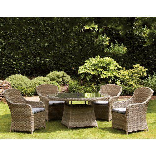 swindon 4 seater dining set with cushions lhasa apso garden rh pinterest co uk
