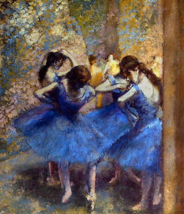 degas blue dancers c1890 greeting card for sale by granger klassik impressionismus und. Black Bedroom Furniture Sets. Home Design Ideas