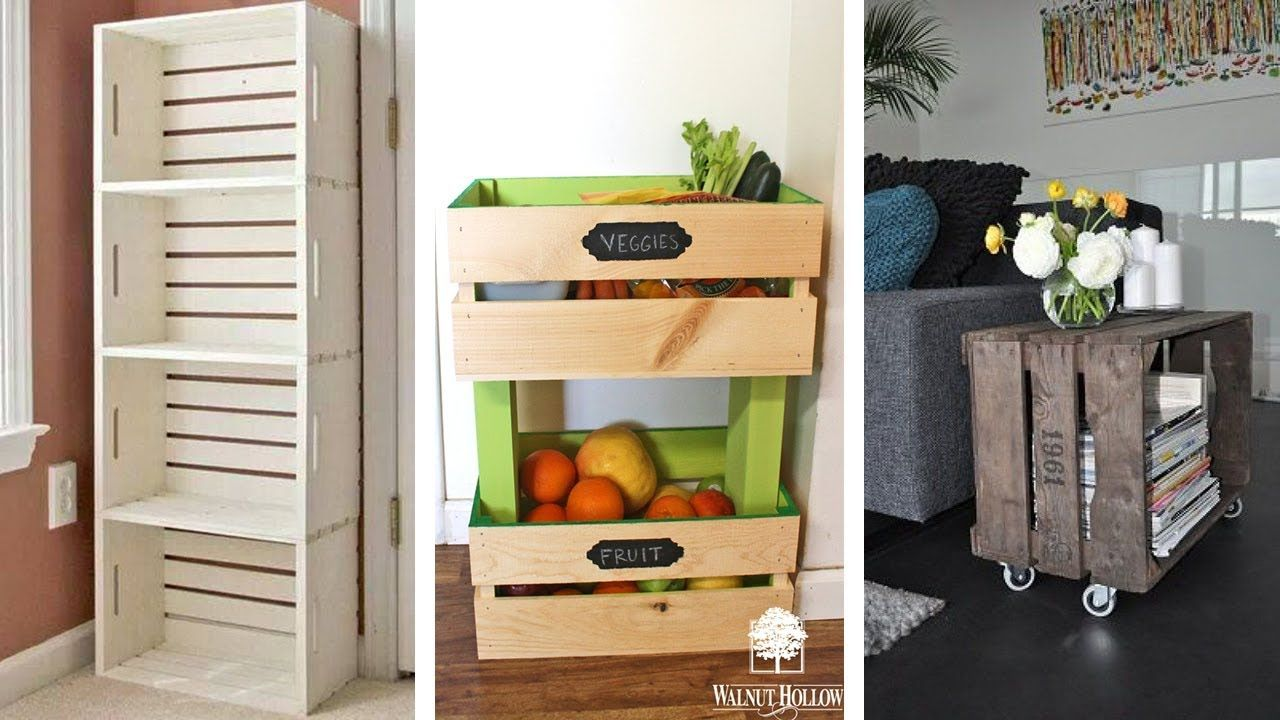 25 Wood Crate Storage Ideas Youtube Crate Storage