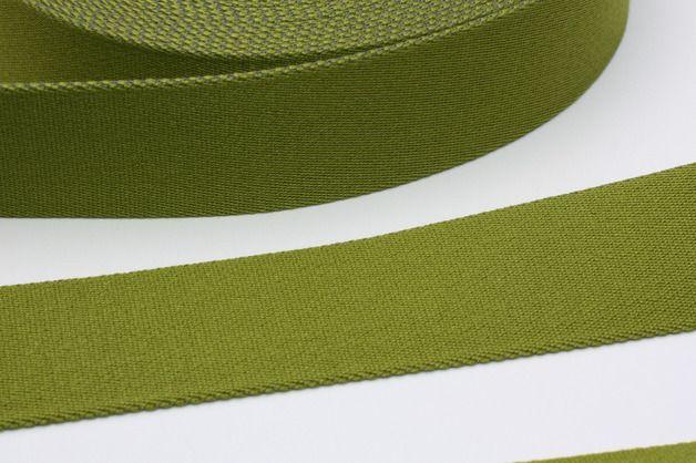 Gurtband - Gurtband 40 mm LIMETTE grün Taschenband - ein Designerstück von naehglueck bei DaWanda