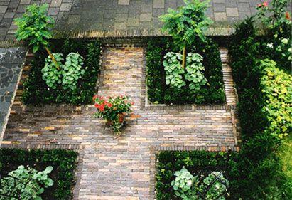 Leuk patroon en stenen tuin gardens garden