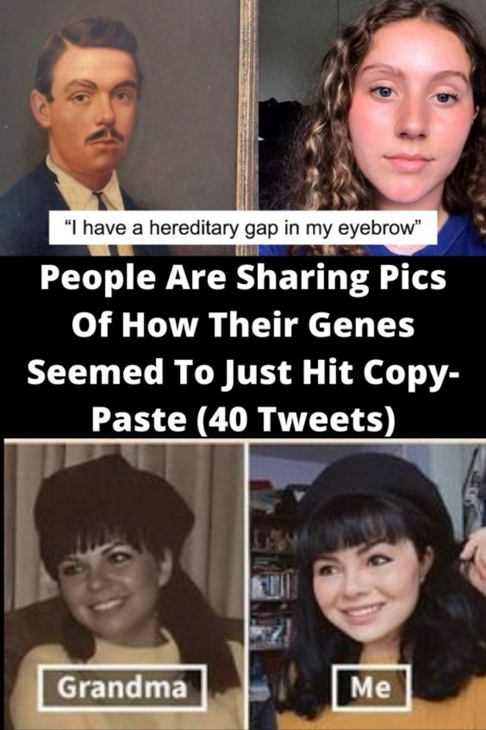 People Are Sharing Pics Of How Their Genes Seemed To Just Hit Copy Paste 40 Tweets Funny Video Memes Wtf Funny Humor