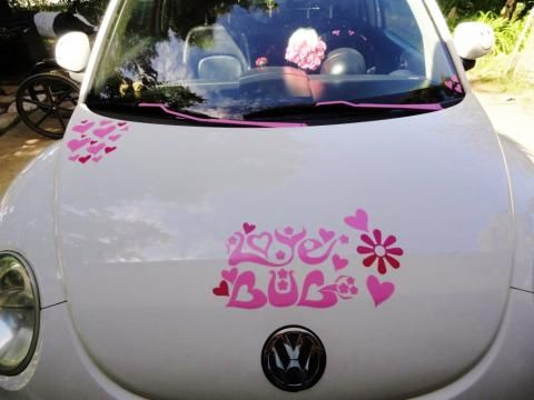 Car stickers decals transfers love bug car sticker vw beetle decal