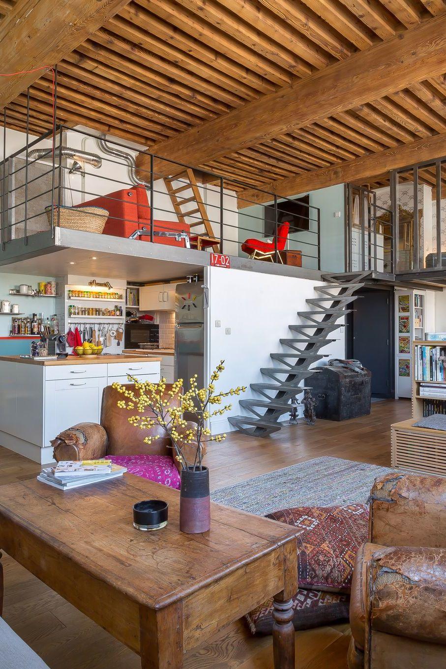 Déco salon style industriel : aménager une ambiance indus en 2020 (avec images) | Salon style ...