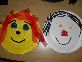 Funny Paper Plate Faces - Craft for Toddlers.....all about me : paper plate activity preschool - pezcame.com