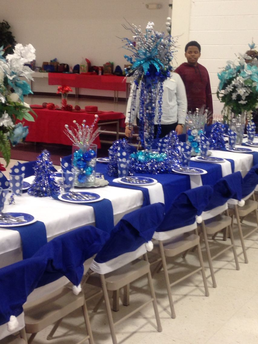 Royal Blue Decorations Craft In 2019 Table Decorations