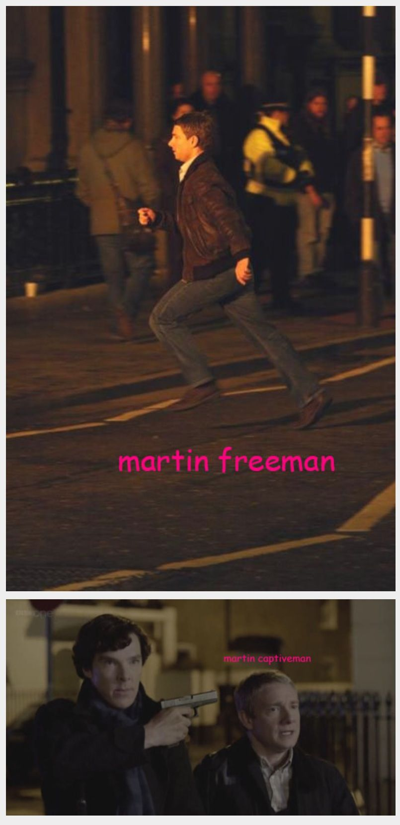 Martin freeman, Martin Captiveman - I see what you did there ;)