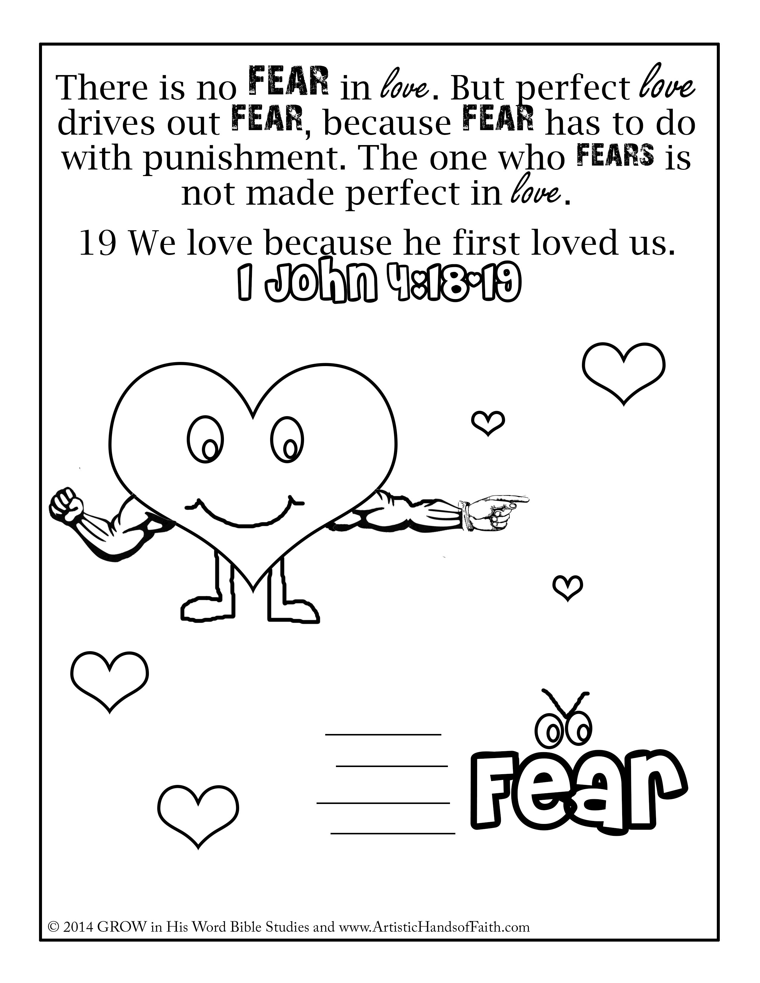 Image result for john 11 coloring page IOC NO Fear