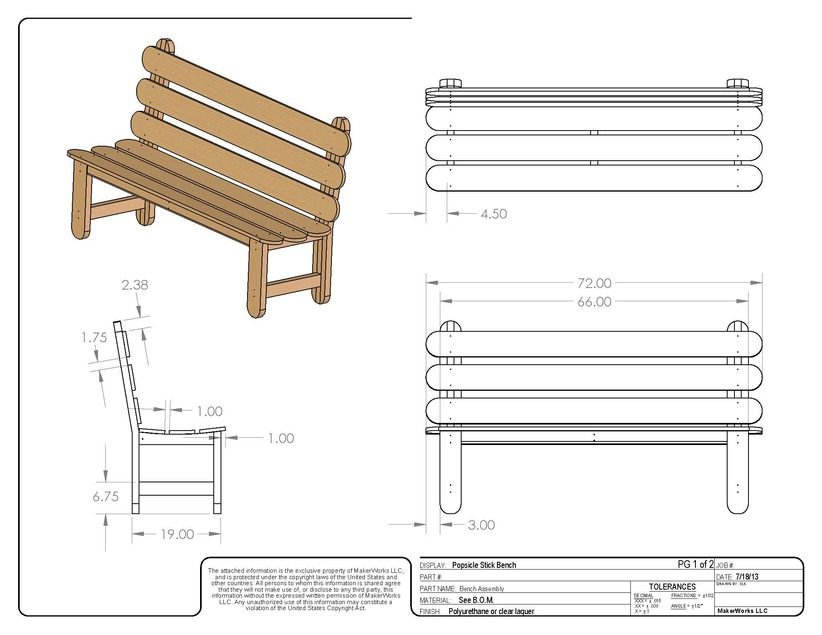 Popsicle stick bench woodworking plan by tobacco road for Stick furniture plans