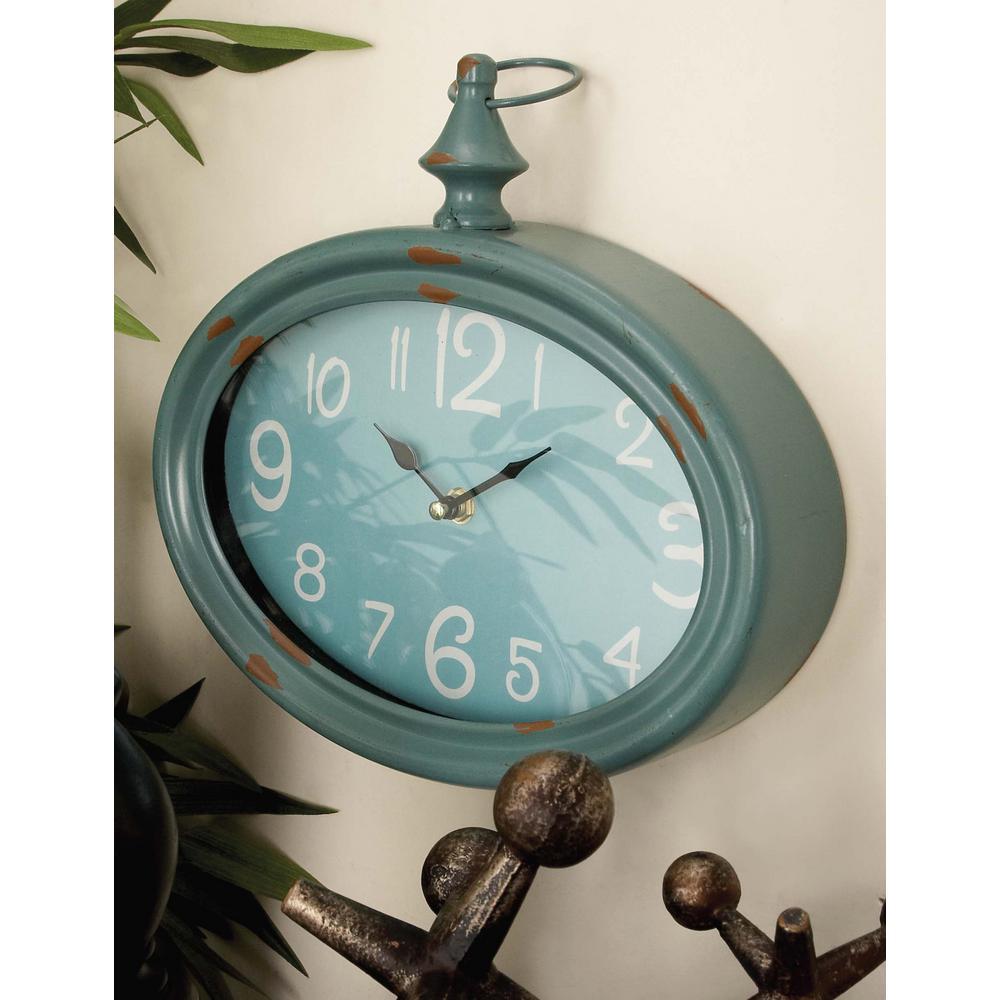 Litton Lane 10 In X 11 In Vintage Oval Wall Clocks Set Of 4 92215 Grey Wall Clocks Metal Wall Clock Wall Clock