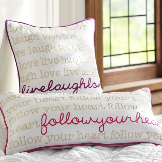 Metallic Inspiration Pillow Cover | PBteen