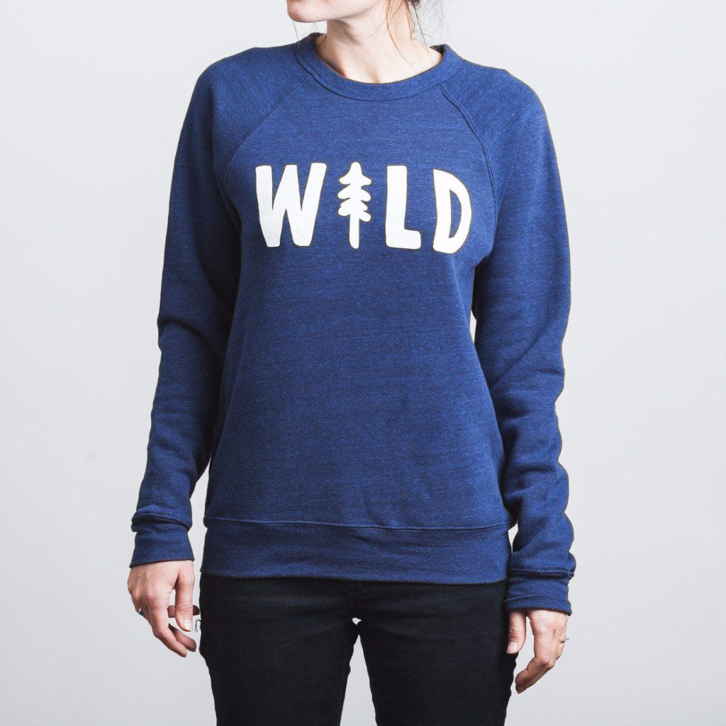 Wild Pine Signature Crewneck Sweatshirts, Baggy