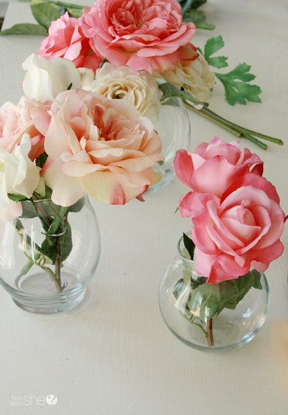 Create Real Like Silk Flower Arrangements With Clear