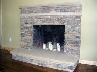 Stacked Stone Fireplace Hearth natural stacked stone fireplace
