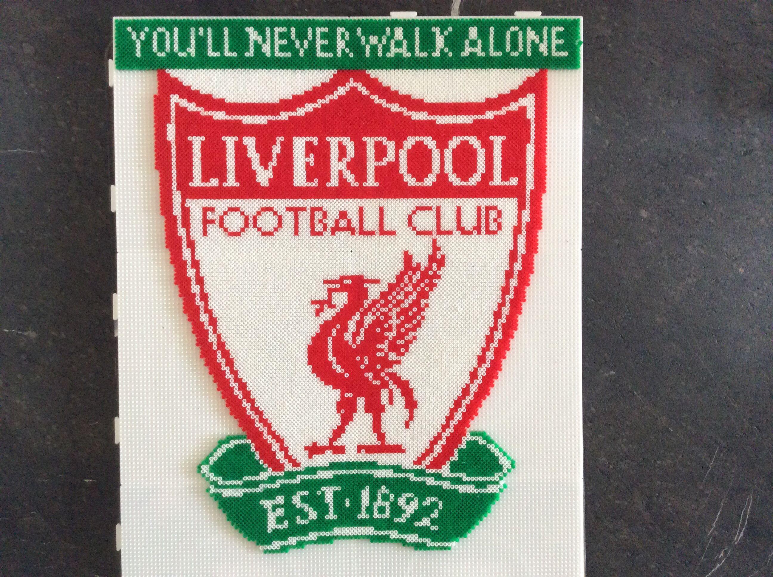 Liverpool logo - mini 6 plader Perleplader - hama mini og midi Pinterest ...
