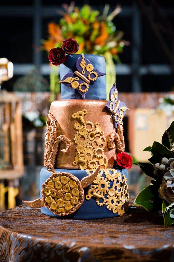 FABULOUS STEAMPUNK WEDDING CAKES | wedding cake Steampunk Steampunk Wedding Inspiration