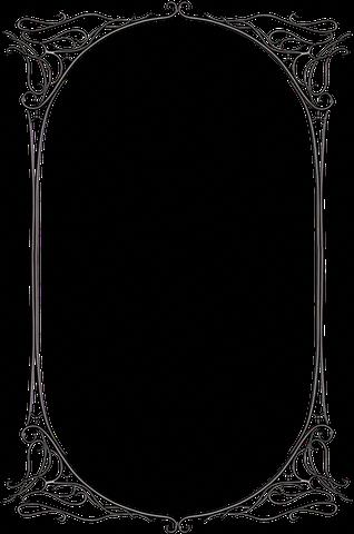 Dark Gothic Fantasy Black Metal Art Nouveau Pattern Frame Border Design Page Borders Design