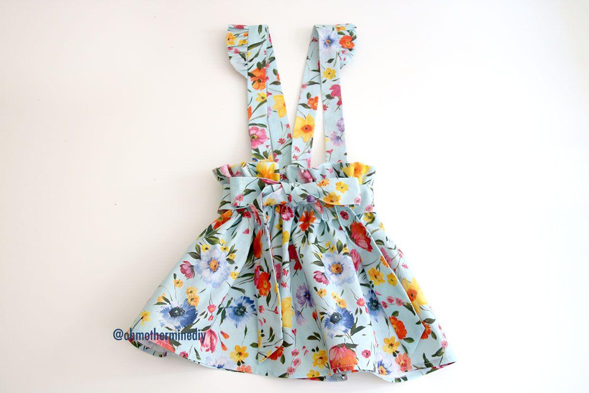 691f9e7cf Patrones falda para niñas con tirantes (patrones gratis hasta talla 8 años)