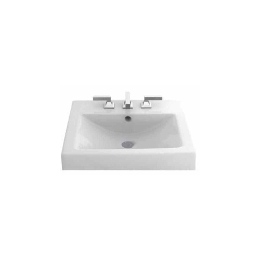 TOTO Vernica II 20 in. Self-Rimming Drop-In Bathroom Sink with 8 in ...