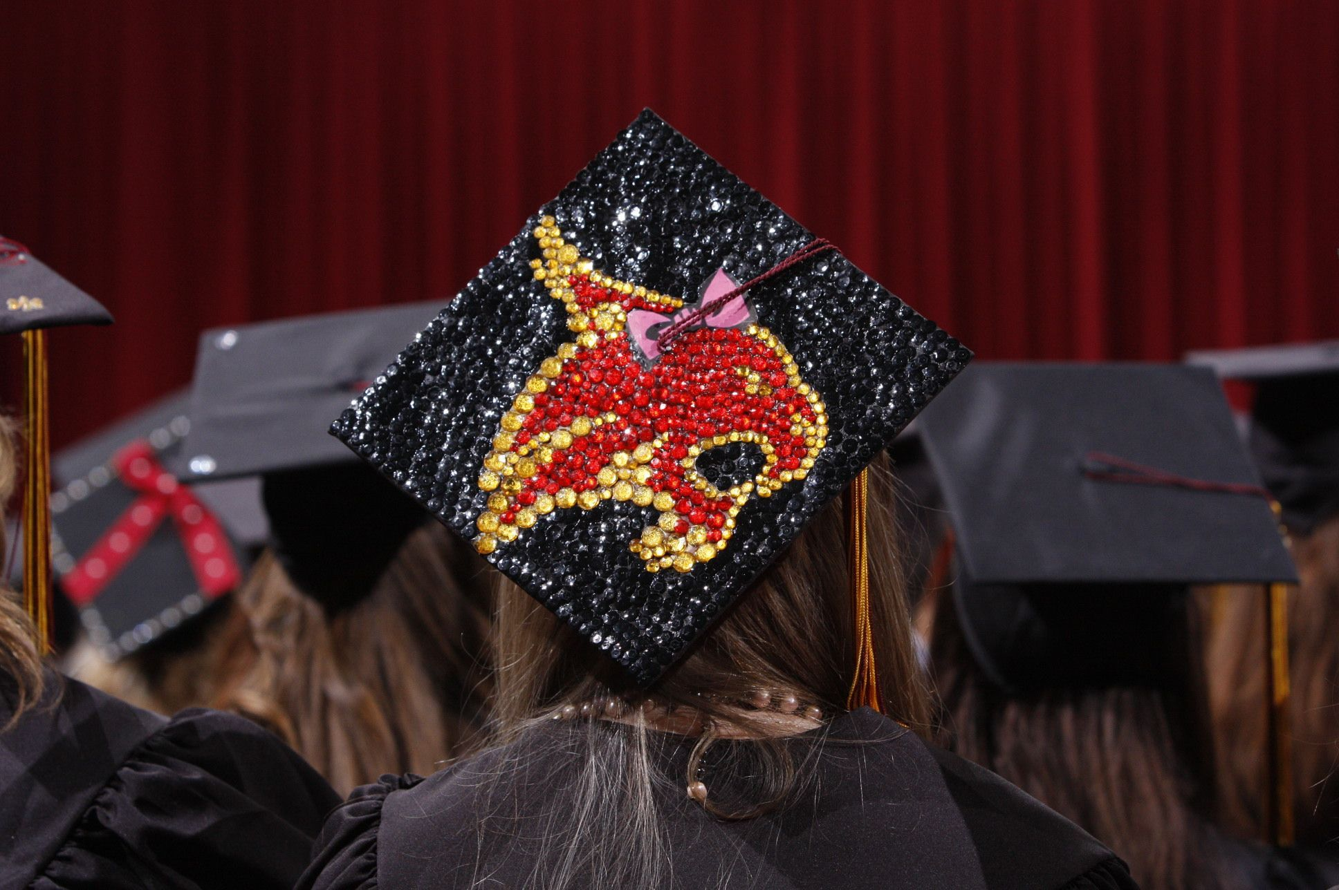 Congratulations To All Graudates And Many Wishes For The Road Ahead Txstategraduation2018 Graduat Graduation Cap Disney Graduation Cap University Graduation