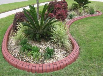 Basket Weave Flower Bed Curbing