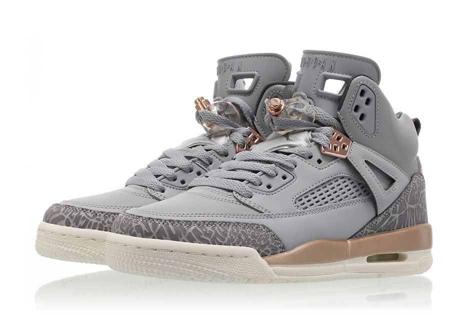 sneakers  news The Jordan Spiz ike Releases In Wolf Grey And Metallic  Bronze For Girls 29d90f031e