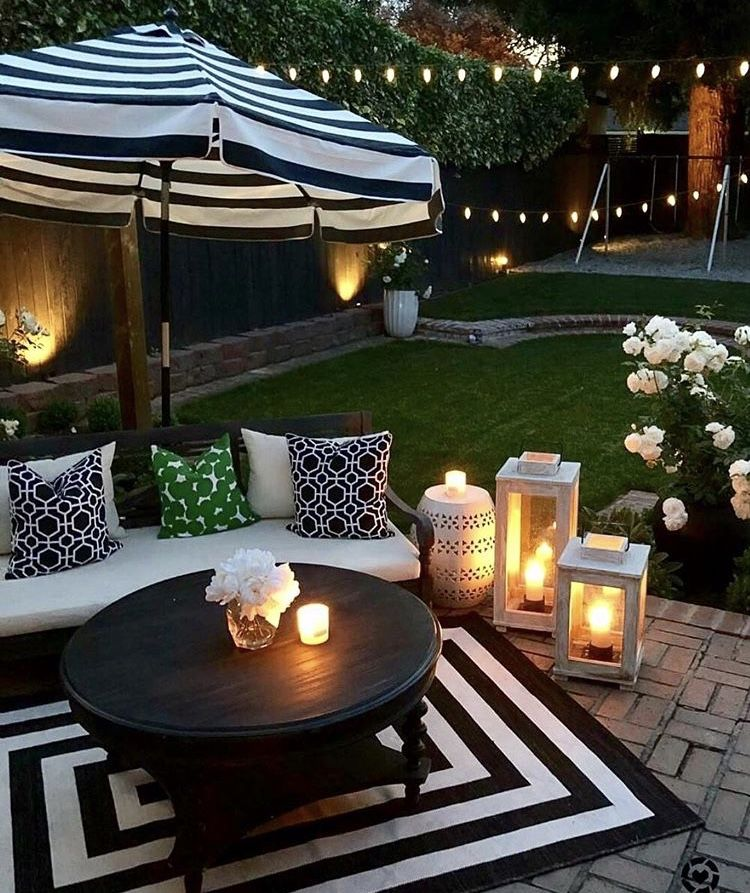 Backyard Goals Cute Sitting Area Patio Garden Ideas On A Budget Patio Design Patio Decor