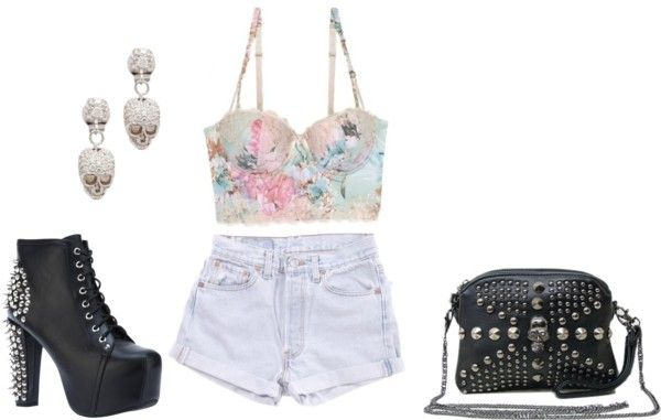"""""""Girlie w/ a rocker edge!"""" by jazzitup626 on Polyvore"""