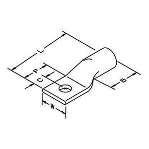 Copper One-Hole Lug, Gray, 4AWG, PK50 by 3M. $191.03