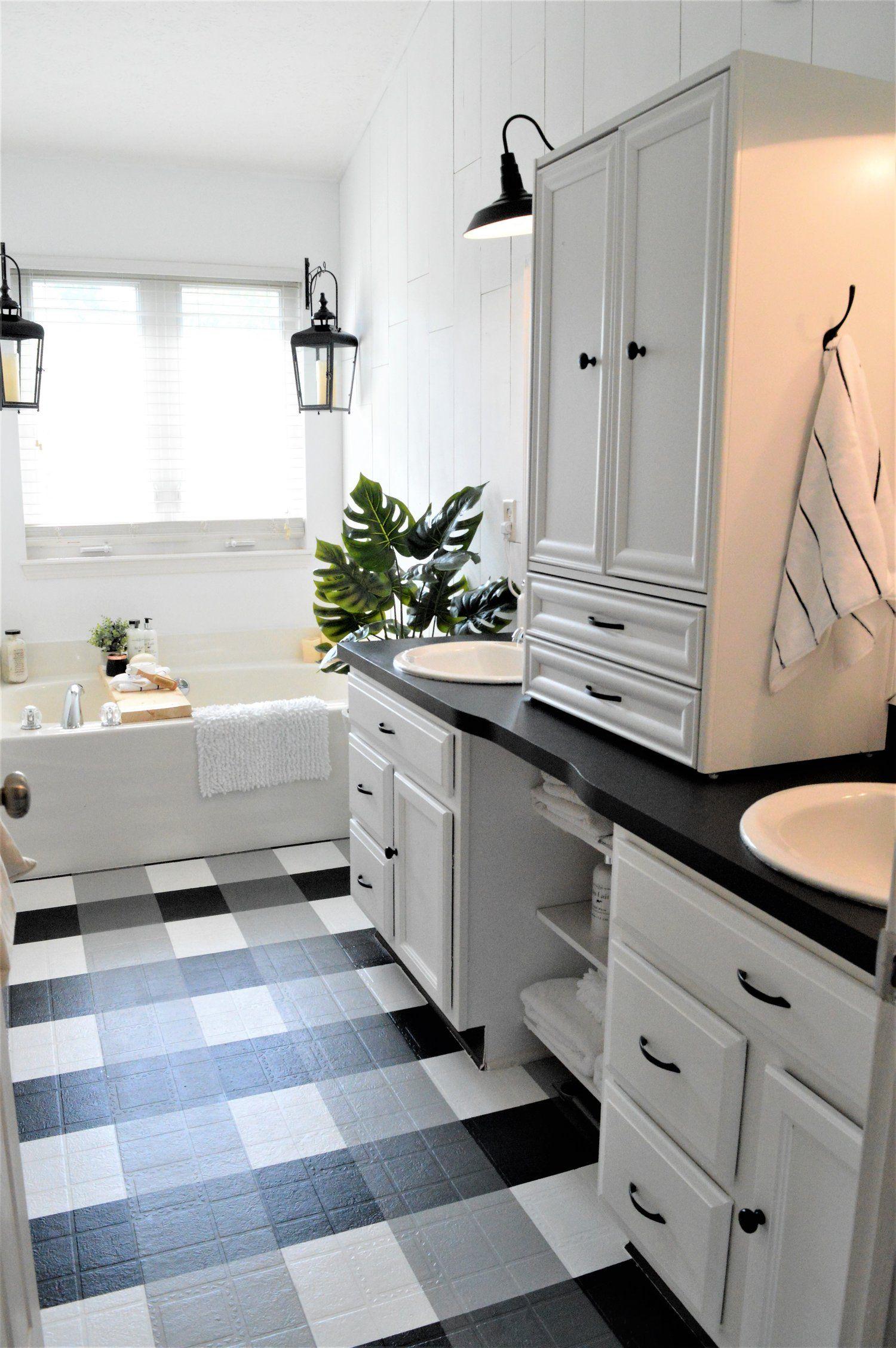 Linoleum Badezimmer