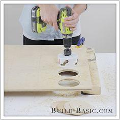 How To Use A Hole Saw By Build Basic Step 3 Copy Backyard Games Diy Backyard Diy Yard