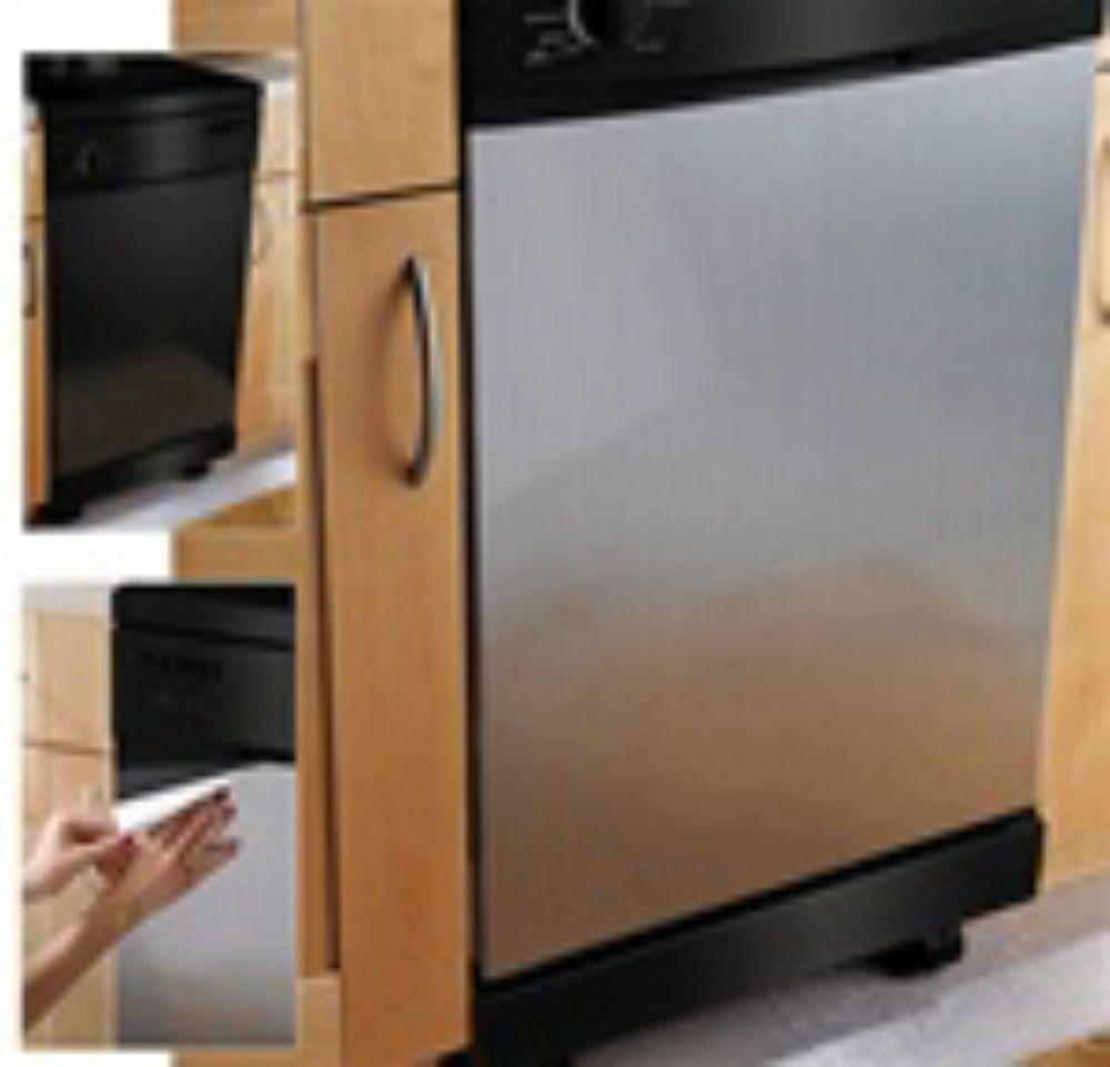 Instant Panel Cover Decal Sticker Nickle Dishwasher stainless steel Film