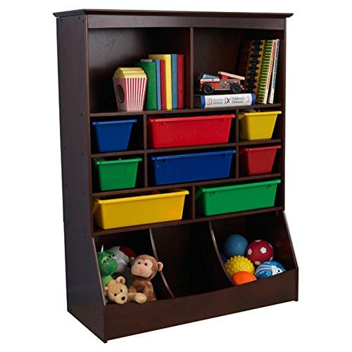 Toy Organizer Kids Toy Storage Shelves Espresso