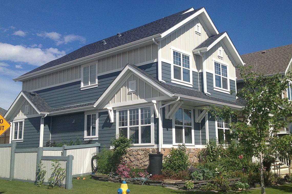 Best Owens Corning Duration Estate Gray Hardie Evening Blue 640 x 480