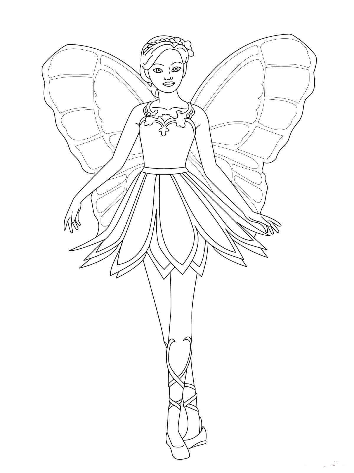 Barbie Mariposa Coloring Page Con Imagenes Dibujos Mariposas