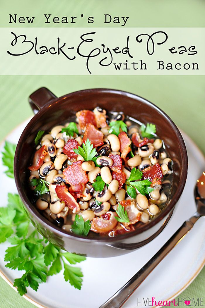 BlackEyed Peas with Bacon, Garlic, and Thyme eat on New
