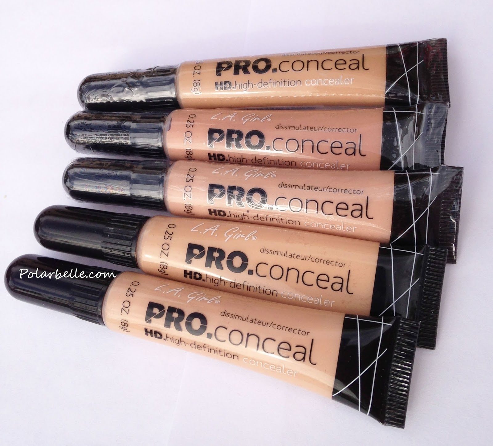 LA Girl Pro Conceal HD High Definition Concealer Swatches and Review