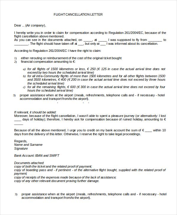 cancellation letter template free word pdf documents download - cancellation policy template