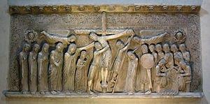 Deposizione dalla croce AutoreBenedetto Antelami Data1178 Materialemarmo Altezza110x230cm UbicazioneCattedrale, Parma