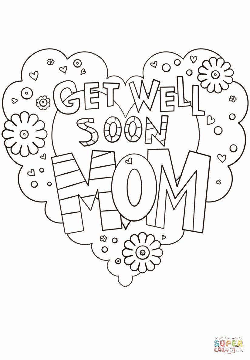 Get Well Coloring Card Di 2020