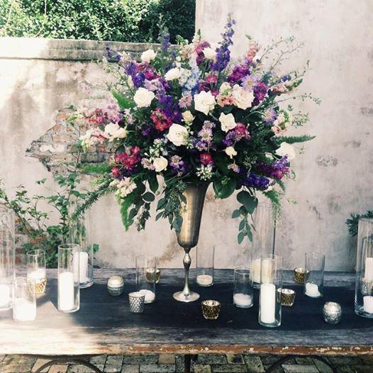 Cross Wedding Altar Flowers: Race And Religious New Orleans Wedding Altar Arrangement