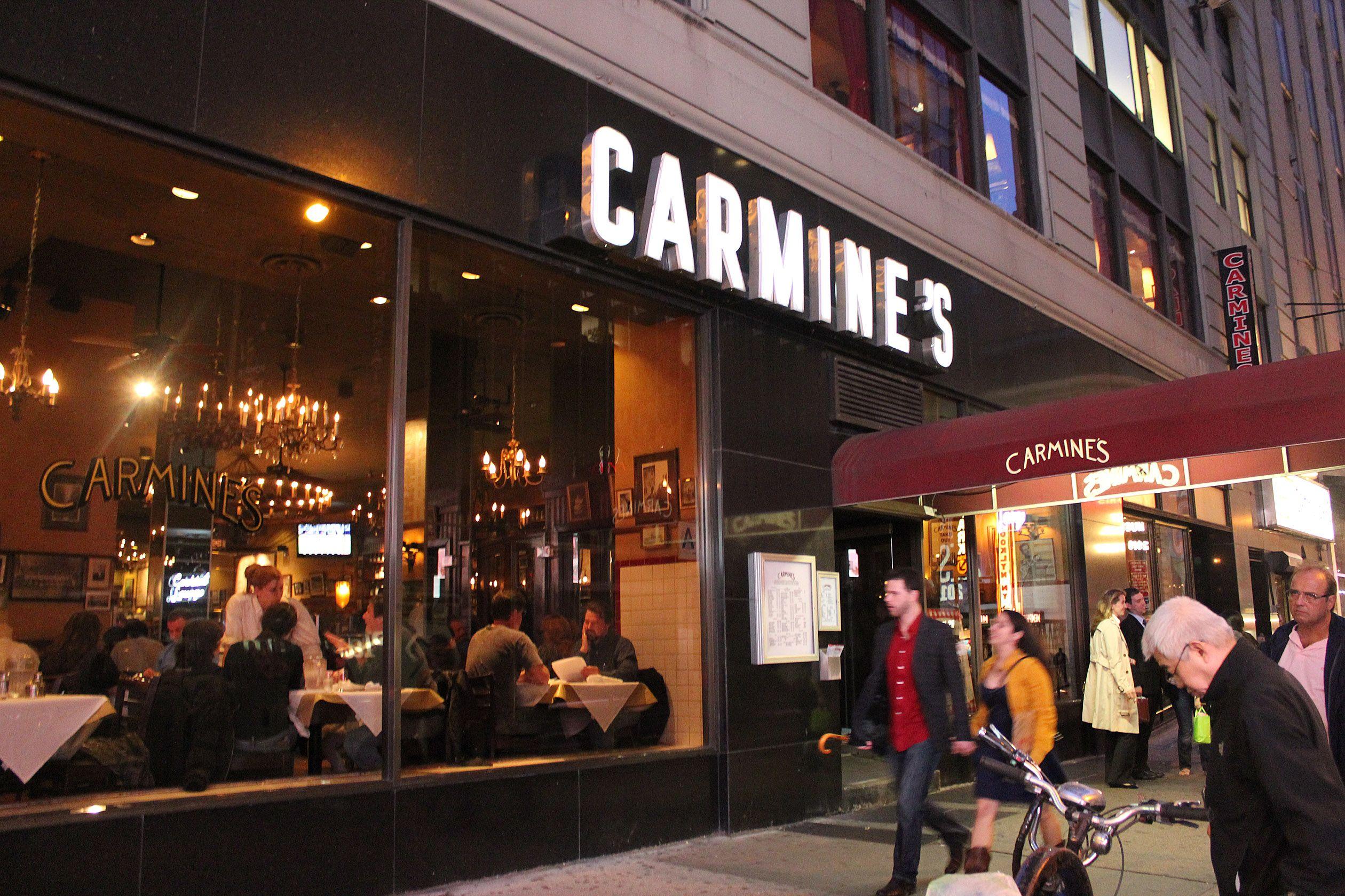 Carmines Nyc, Visiting Nyc, Carmine