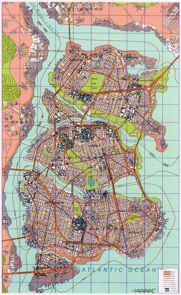 Map of Gotham City.