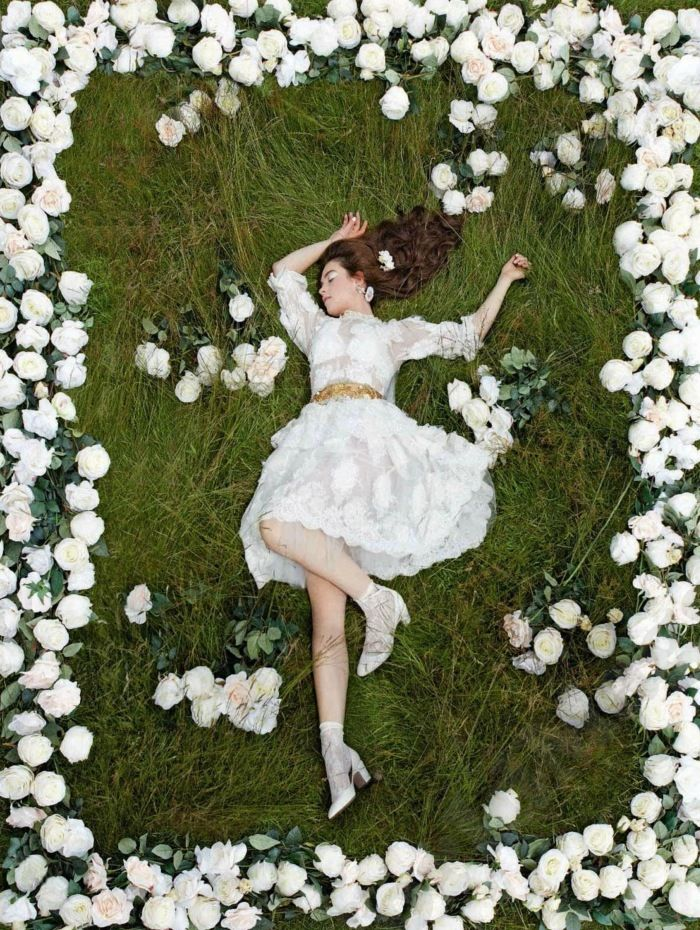 'Flower Girl' Lily James by Kristin Vicari for Instyle Sep. 2012