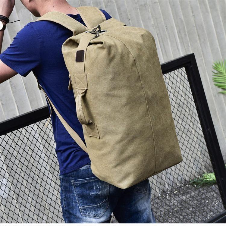 Men/'s Canvas Backpack Bag Duffle Bag Travel Camping Hiking Luggage Rucksack Pack