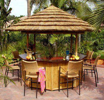 Tropical Theme Parties With Images Outdoor Tiki Bar Backyard