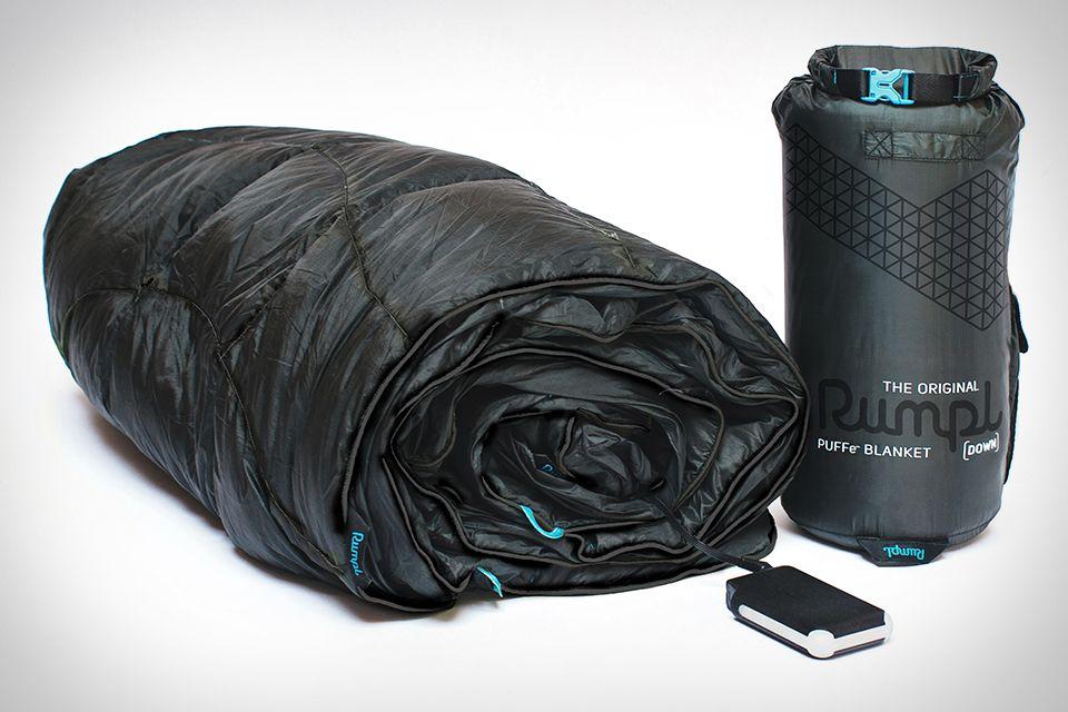 Rumpl Puffe Heated Blanket Battery Powered Heated Blanket Camping Blanket Heated Blanket